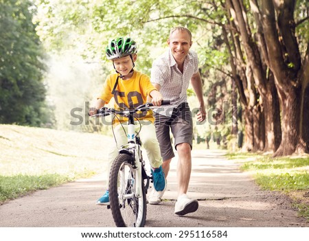 First lessons bicycle riding