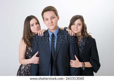 First love, the choice of relations between teenagers. the relationship between teenagers - stock photo
