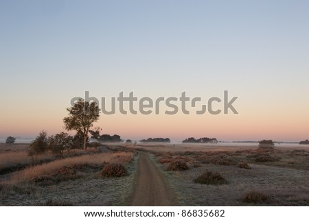 First morning light on an October morning - stock photo