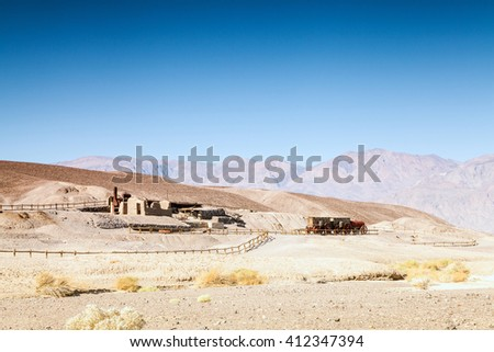 First settlers' house in Death Valley, California, USA - stock photo