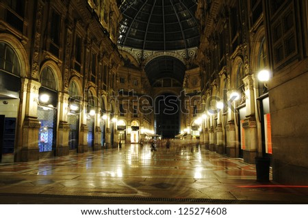 First Shopping Mall in Milan - stock photo