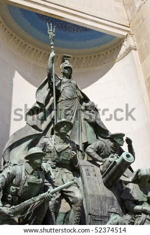 First World War Memorial Statue, Liverpool - stock photo