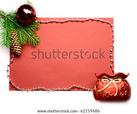 Firtree and gift isolated on white