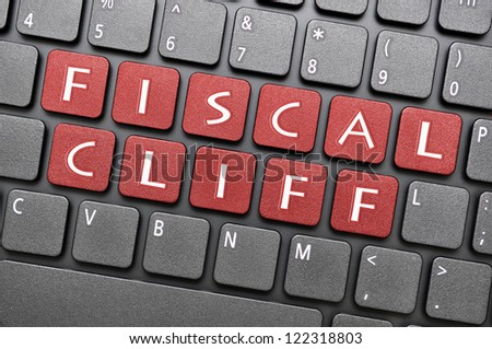 Fiscal cliff on keyboard