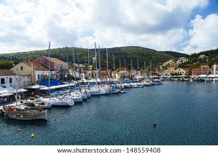 Fiscardo village in Kefalonia island, Greece