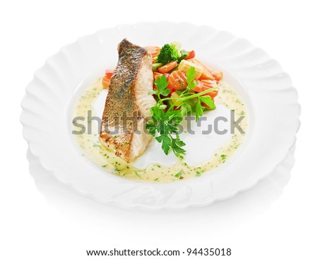 fish and begetables