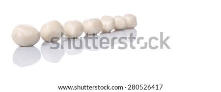 Fish balls on white background