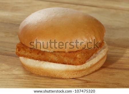 Fish burger - stock photo