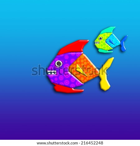 fish fantasy toy early childhood and sea background