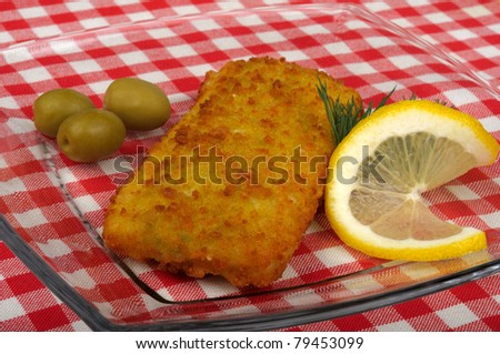 Fish fillets, breaded