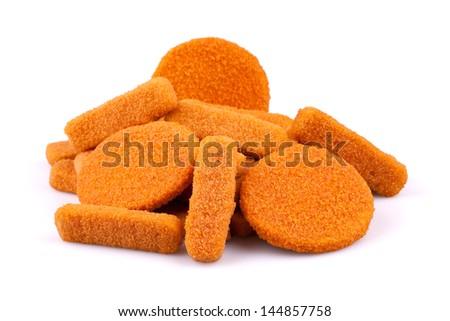 Fish fingers and fishcake burgers - stock photo
