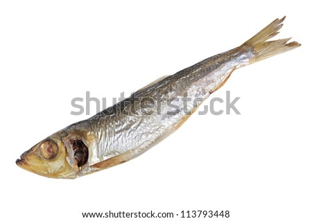 Fish food isolated on white