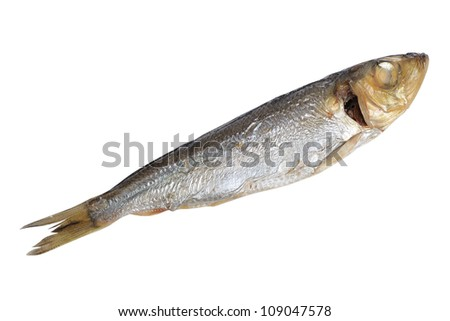 Fish food isolated on white background