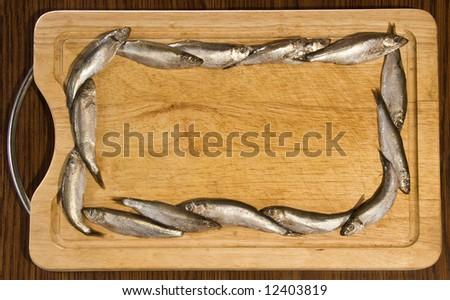 fish frame - stock photo