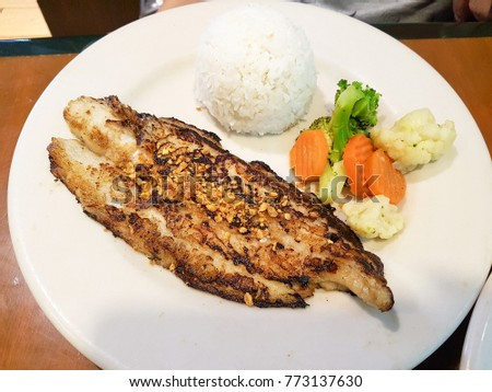 Fish grill dishes