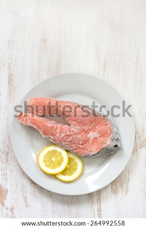 fish in ice - stock photo