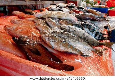 Fish in the market goods trafficking