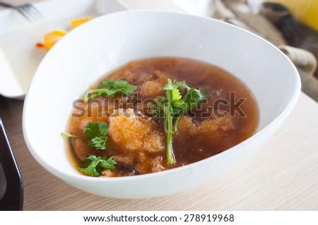 fish maw soup - stock photo