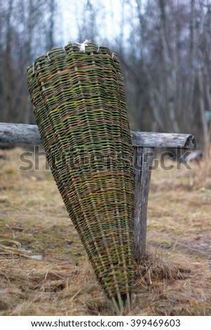 Fish net made of wood