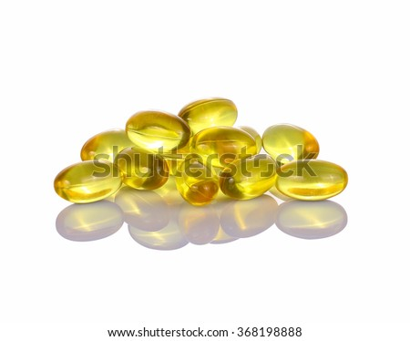 Fish Oil capsule on isolated on white background