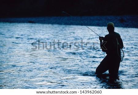 Fish On - stock photo
