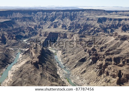 Fish River Canyon in Namibia - stock photo