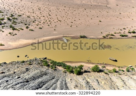 Fish River Canyon in Namibia, Africa. It is the largest canyon in Africa. - stock photo