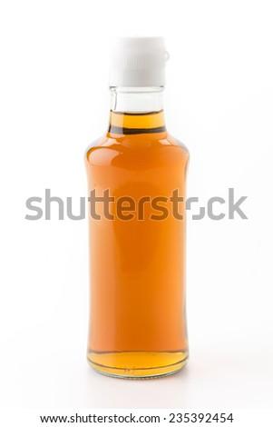 fish sauce bottle on white background - stock photo