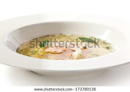 Fish Soup with Salmon and Vegetables