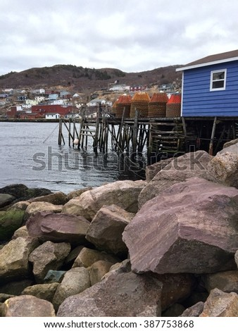 Fish stage in petty harbor newfoundland