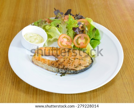 fish Steak - stock photo