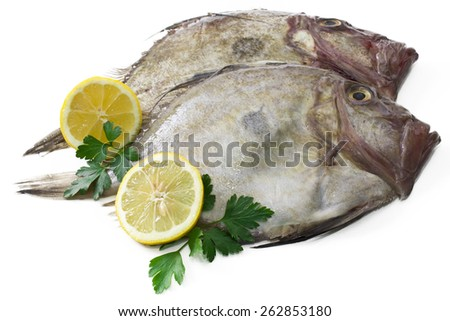 fish with lemon isolated