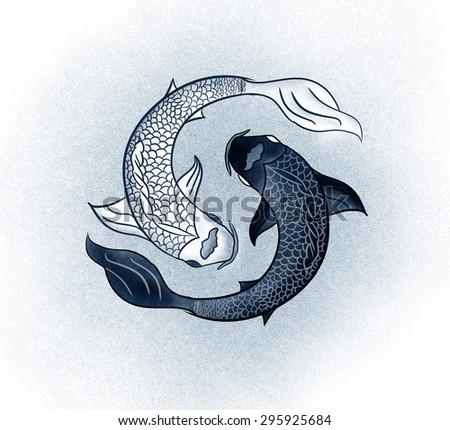 yin yang fish stock images royalty free images vectors. Black Bedroom Furniture Sets. Home Design Ideas