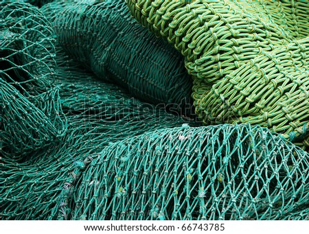 fisher net - stock photo
