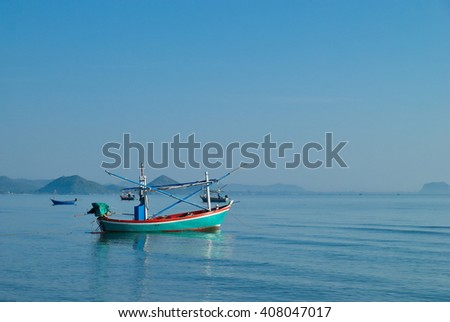Fisherman boat in the sea