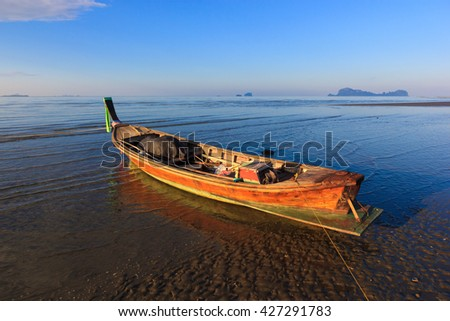 fisherman boat on the beach ,Thailand
