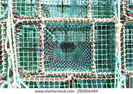 Fisherman Nets - stock photo