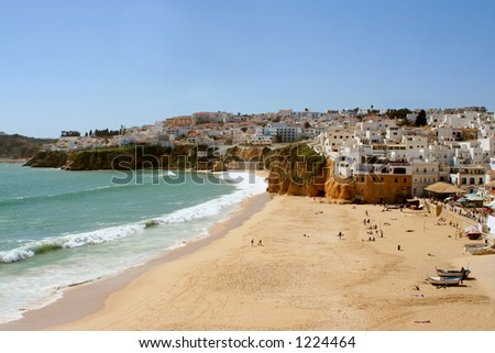 Fisherman's beach, Albufeira, Algarve, Portugal