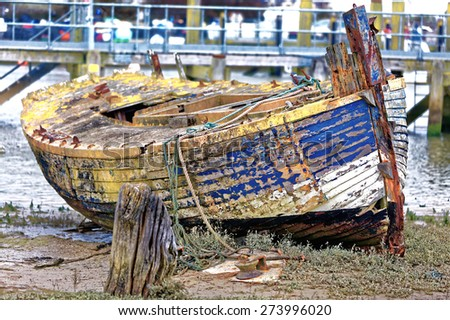 Fisherman's boat - stock photo
