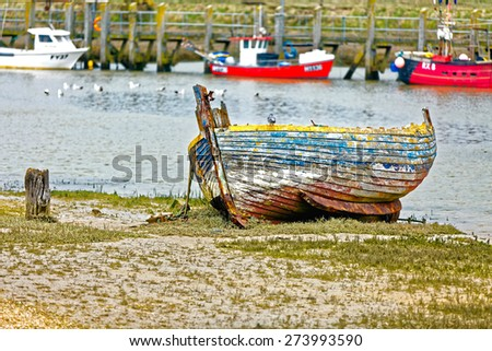 Fisherman's boat, Withstable, London - stock photo