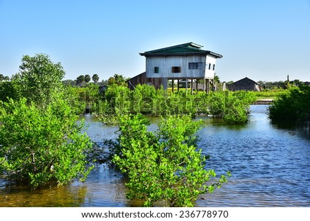 Fisherman's house,In Cambodia.