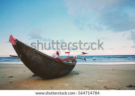 Fisherman with boat