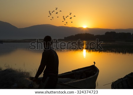 Fishermen and lakes