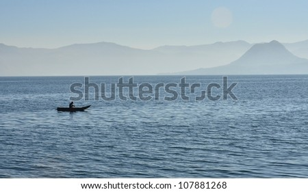 Fishermen with boat