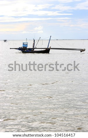 Fishery boat in Thai sea