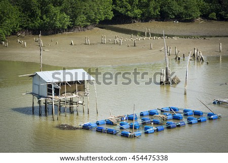 Fishery in Thailand. - stock photo