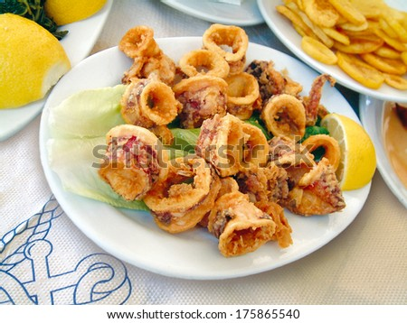 fishes in tavern - stock photo
