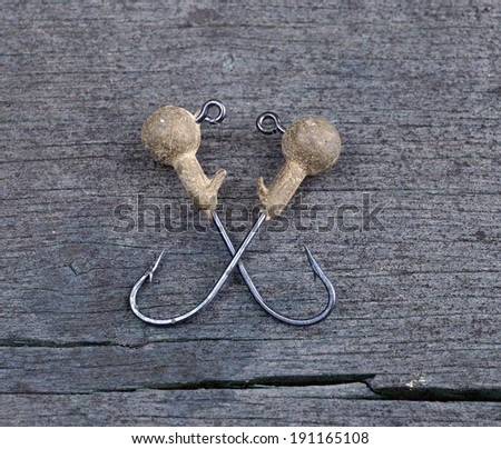 fishhooks - stock photo