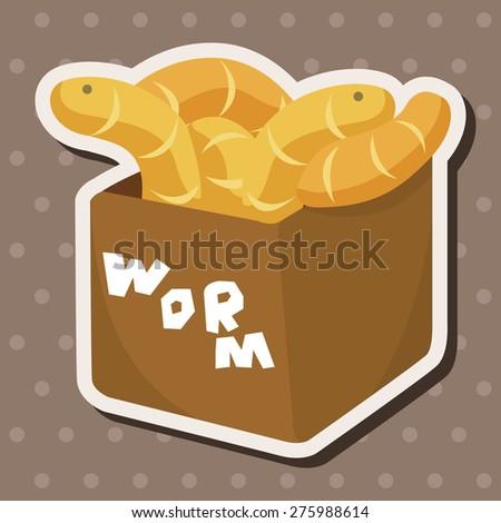 Fishing bait , cartoon sticker icon - stock photo