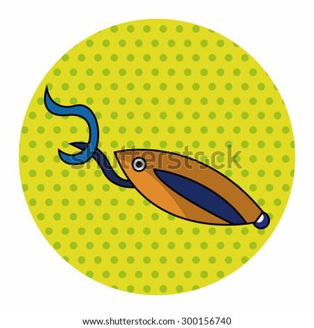 Fishing bait theme elements - stock photo
